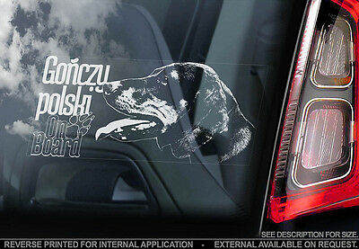 Gonczy Polski - Car Window Sticker - Dog Sign -V01