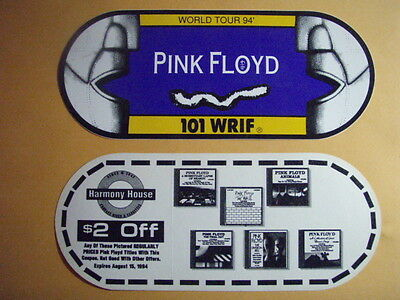 Pink Floyd 101 Wrif Sticker 1994 Division Bell World Tour The Riff Roger Waters