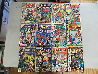Avengers Giant Size Annual 12 Issue Bronze Comic Run Lot 1-5 Annual 3-11 Marvel