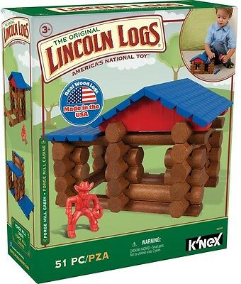 Lincoln Logs Forge Mill Cabin Toy Preschool Educational (51 Pieces) Ages 3+ NEW