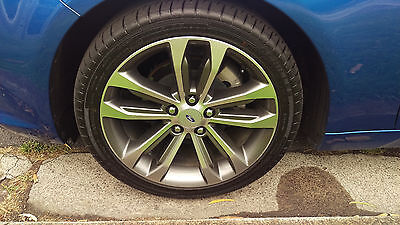 ford fgx xr6 wheels and tires by 4 near new with wheel nuts and center caps
