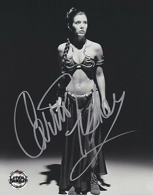 "Star Wars Carrie Fisher 8x10 Autograph Reprint ""Mint"" {FREE SHIPPING}"