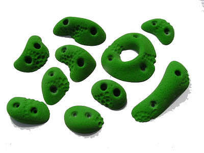 10 Screw On Large Dimples - Rock Texture Climbing Holds, Largest of the Screwies