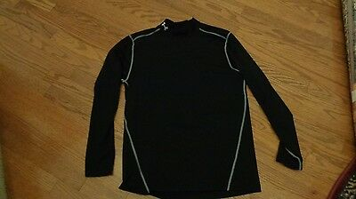 UNDER ARMOUR Mens Large Cold Gear Fitted Compression Long Sleeve Shirt PERFECT