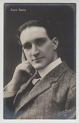 POSTCARD - Albert Garcia, film or theatre actor? real photo portrait