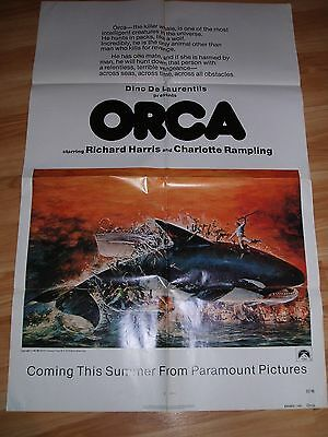 """orca "" Richard Harris   1976 One-Sheet!!"