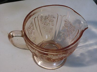 Rare Sharon Pink Creamer by Hocking Glass Company No Reserve