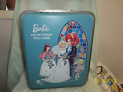 Vintage Mattel 1958 Barbie and Her Friends Travel Trunk Original, good overall