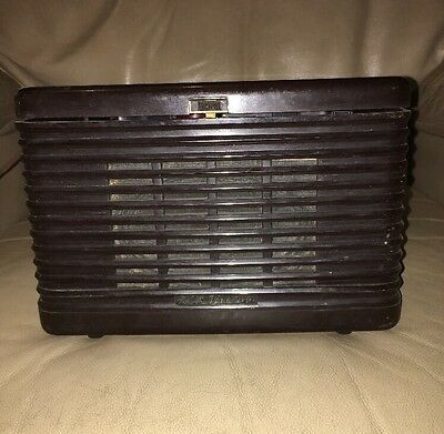 VTG Bakelite RCA Victor Portable 45 RPM Record Player Victrola 45-EY-3 FOR PARTS