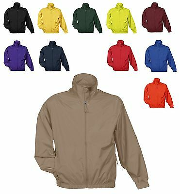 Men's Unlined, Water Resistant, Zip Up, Windbreaker, Wind Jacket, Pockets Xs-6Xl