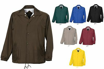 Men's Snap Front, Water Resistant, Coach's Jacket, Pockets, Lined, Tall Lt-6Xlt
