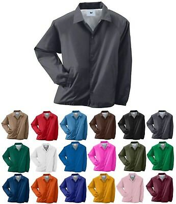 Men's Wind & Water Resistant, Snap Front, Pockets, Lined, Coaches Jacket, S-5Xl