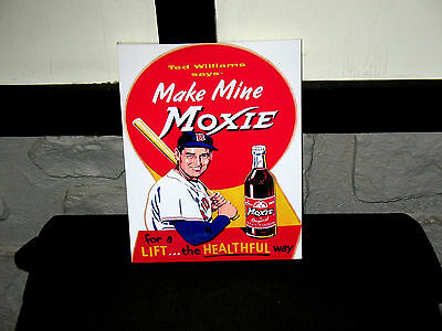 """Ted Williams Moxie Soda Sign  8.5""""x11"""" Wall Poster  Decor Mancave #1"""