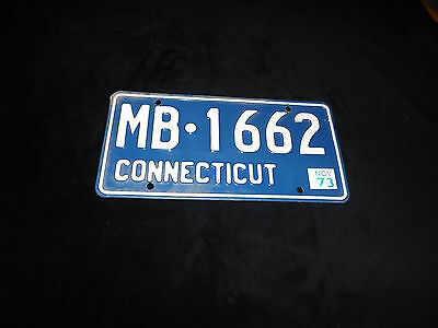 1973 CONNECTICUT License Plate MB-1662