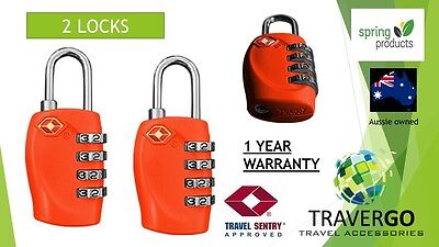 2 X Red 4 DIGIT Travel Locks TSA Approved Luggage ideal for BACKPACK SUITCASE