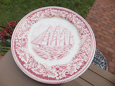 Currier & Ives Clipper Ship Great Republic Homer Laughlin J. Parr Dish Plate