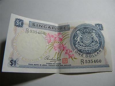 1972 Singapore 1 Dollar $1 Paper Banknote Red Seal & Signature Hon Sui Sen
