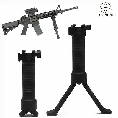 RIS Military Tactical Fore Grip Bipod Pod Picattinny Weaver Rail Rifle Foregrip