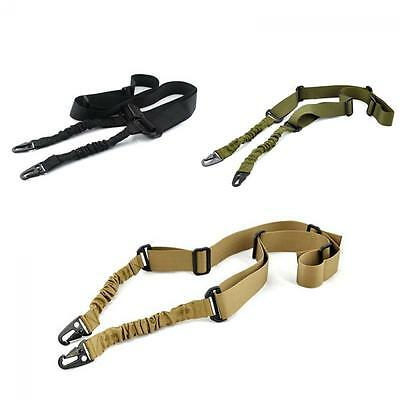 Hunting Gun Paintball  Rifle Strap Ajustable Tactical Sling 2 Dual Point