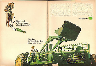 1965 2 Page Print Ad of John Deere 4020 Farm Tractor