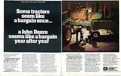 1982 John Deere 4440 2 Page Farm Tractor Print Ad