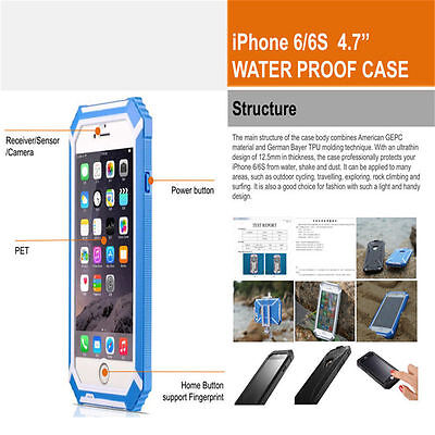 iPhone 6/6s Waterproof Case Fully Body Protection Cover scratch/shock/dirt proof
