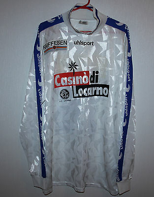 FC Locarno swiss match worn or issue shirt #14 Uhlsport Long Sleeves