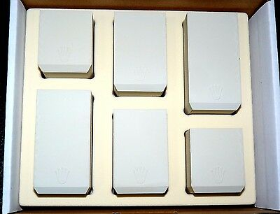 AUTHENTIC ROLEX WATCH DISPLAY STANDS HOLDERS 6pcs ASSORTED SIZES