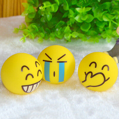 Smiley Face Anti Stress Reliever Ball ADHD Autism Mood Toy Squeeze Relief 6.3cm@
