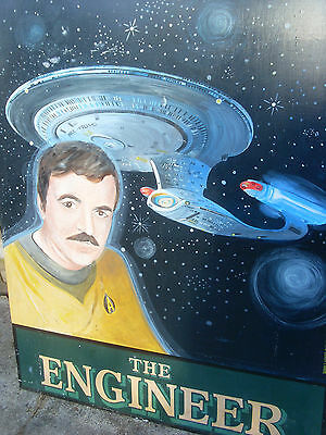 Vintage Star Trek  Pub Sign; The Engineer