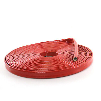 Extreme Heat Protector Silicone Spark Plug Wire Sleeve  3.3' Diameter 10mm  Red