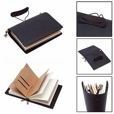 Leather Handmade Bound Notebook Journal Diary Personalised Refillable Sketchbook