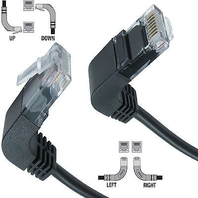RJ45 CAT5e Ethernet Network Right Angle Patch LAN Cable Internet Modem Router UK