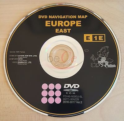 Toyota Lexus ORIGINAL Navigation Navi DVD E1E 2017 East Europe Ost Europa