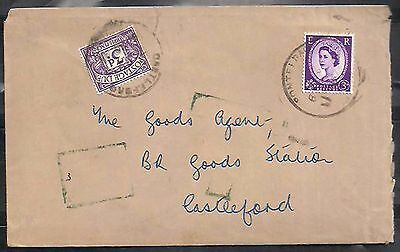 gb great britain cover  with 3 pence postage due     a150.9