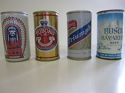 Beer cans lot of Four (4)  Storz Triumph Tuborg Busch Bavarian Illinois