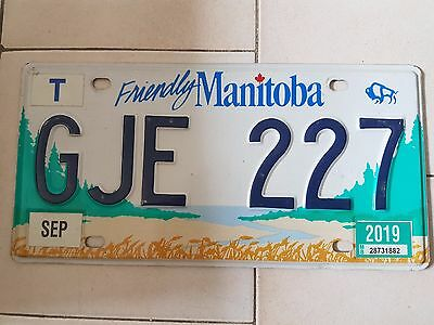 Plaque d immatriculation Manitoba GJE-227 Canadian License Plate