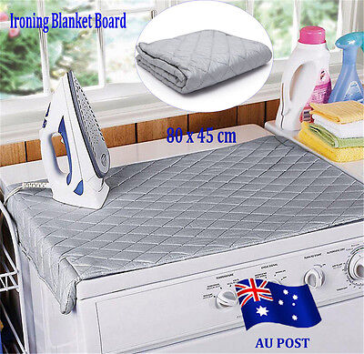 Table Top Folding Portable Caravan Travel Ironing Blanket Board Cover Mat BO