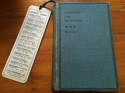 REAGENTS AND REACTIONS TOGNOLI Antique 1918