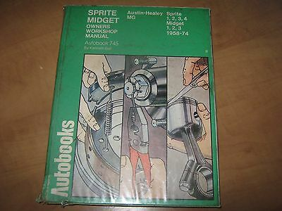 MG Midget  & Austin Healey Sprite Workshop Manual 1958-74 MK1-3 Autobook