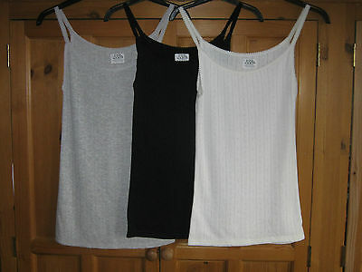 Bnwot Ex Marks And Spencer Pointelle Thermal Vest Top - Colour And Size Choice