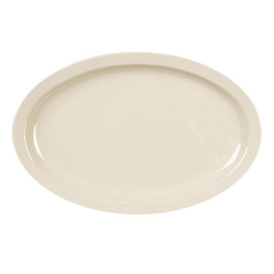 Thunder Group 1 Dozen 11.5In X 8In Oval Tan Melamine Platters - Ns512T