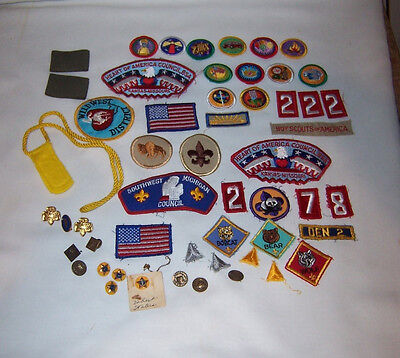 Large Lot Boy Scout Badges Patches Pins Number Also Some Girl Scout Pins