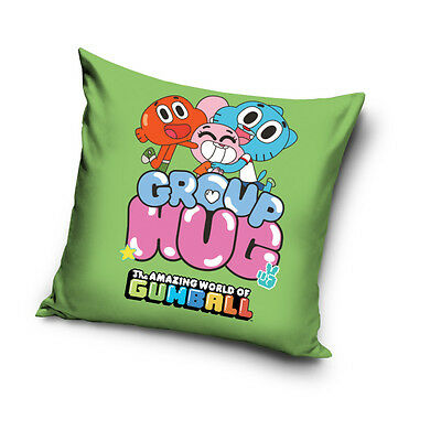 NEW THE AMAZING WORLD of GUMBALL Troublemaker cushion cover 40x40cm 100% COTTON