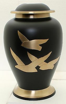 Large Cremation Urn for Ashes,Adult Funeral Memorial Burial Remebrance Brass Urn
