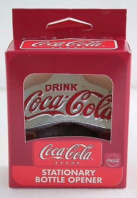 Coca Cola Wall Bar Soda Bottle Opener Mount Stationary Retro Look Metal
