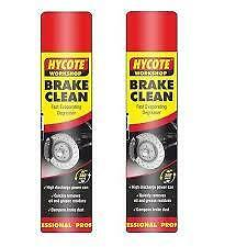 2 x HYCOTE WORKSHOP BRAKE DISC & CLUTCH CLEANER SPRAY AEROSOL 600 ML SALE !!!!