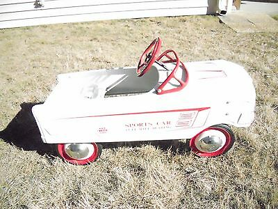 Pedal Car White Radio Flyer Sports Car Pedal Car