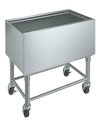 "Krowne Metal 30"" W Mobile Insulated Underbar Ice Bin Stainless 12"" Depth - Mb-18"