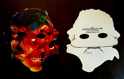 Metallica Atlas Rise Halloween Mask With Unused Download Code Mint Condition